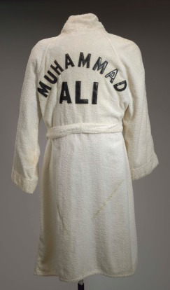 Training robe worn by Muhammad Ali at the 5th Street Gym.
