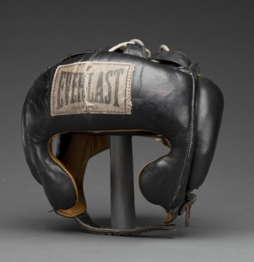 Boxing headgear worn by Muhammad Ali, Dundee's 5th street gym. It was in this gym and the surrounding neighborhood with its vibrant mix of racial, political and cultural identities, some have argued,