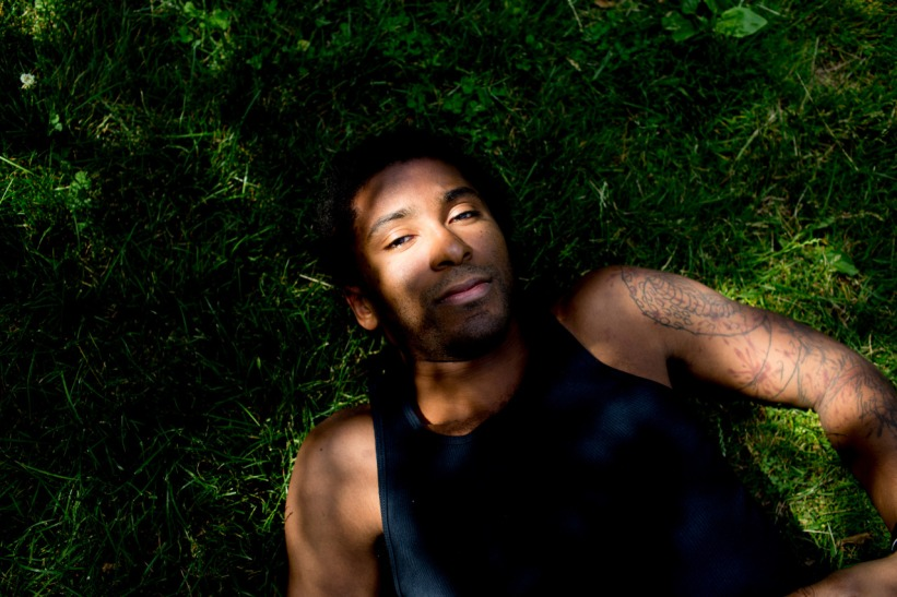 Pryor rests in Central Park after a heavy training session in New York on June 17.