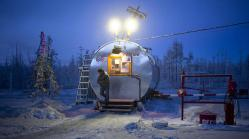 The petrol station on the way to Oymyakon.