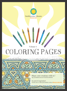cover of coloring pages volume 2 from the Smithsonian Libraries