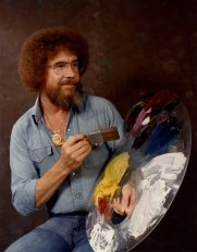 In the 1980s and 1990s, Ross was a fixture on PBS. The Joy of Painting invited viewers to watch over Ross' shoulder as he created small masterpieces in under 30 minutes.