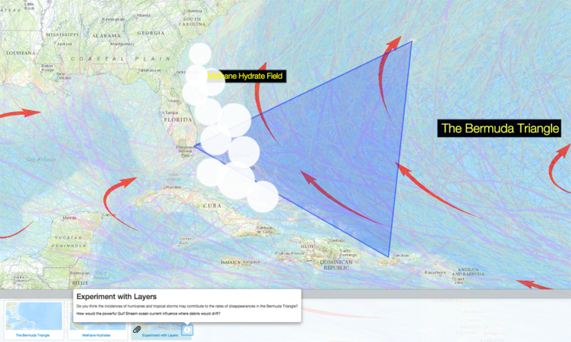 The Bermuda Triangle doesn't officially exist. Agencies such as the U.S. Navy and the U.S. Board of Geographic Names do not recognize the region as anything other than an arbitrary area of the western North Atlantic Ocean.