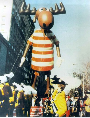 That's not an Instagram filter. It's an image of everyone's favorite moose, Bullwinkle, making his debut in the 1961 Macy's Thanksgiving Day Parade. Macy's photo