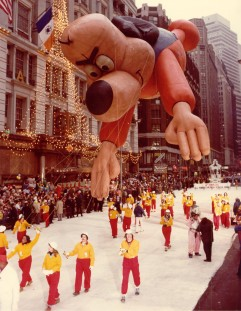 Underdog underwhelms as he flies through the streets of New York in 1965 -- with a little help with some friends. Macy's photo