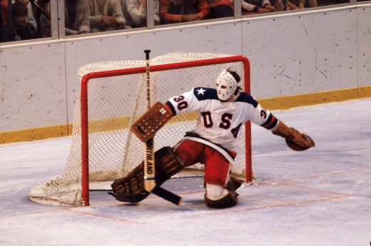 U.S. goalie Jim Craig in action against the USSR. (USA TODAY)